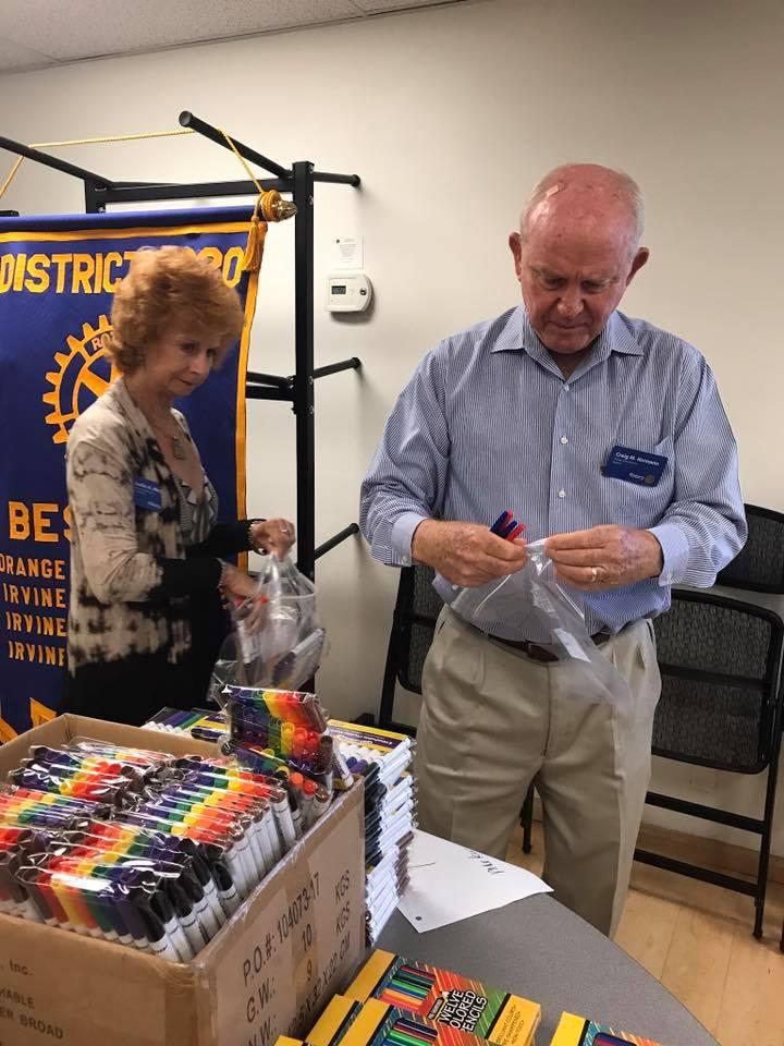 Backpacks Rotary Club of Irvine 13