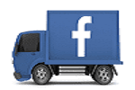 FACEBOOK LOGO ICON WITH LINED PAGE