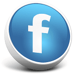 facebook logo with linked page