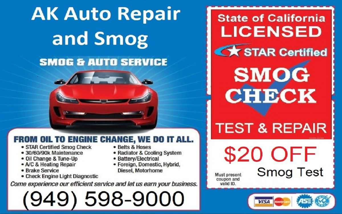 AK Auto Repair and Smog Lake Forest CA