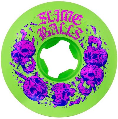 Slime Balls Skullbasher Neon Green 54mm 97a