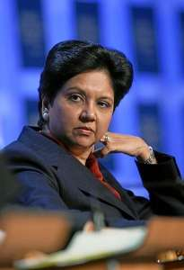 Indra Nooyi, CEO of PepsiCo and a Yale SOM Alumna. By Andy Mettler.