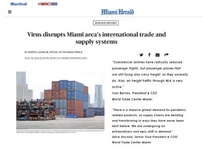 Virus disrupts Miami area's international trade and supply systems - World Trade Center Miami