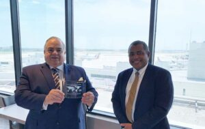 World Trade center miami chairman receives NASBITE award with VP of Beacon Council Stanely Rigaud