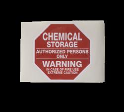 chemical storage sticker