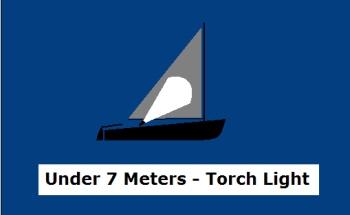 Navigation Lights - Sailboat under 7 Meters