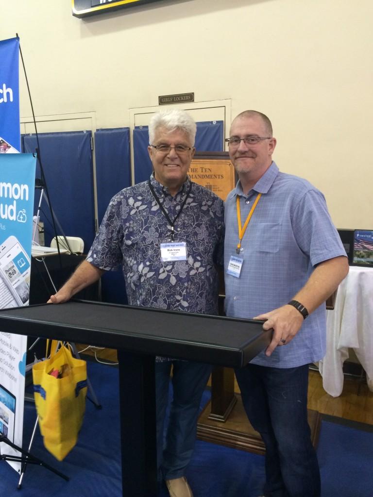 Pastor Rick Irons and Chad