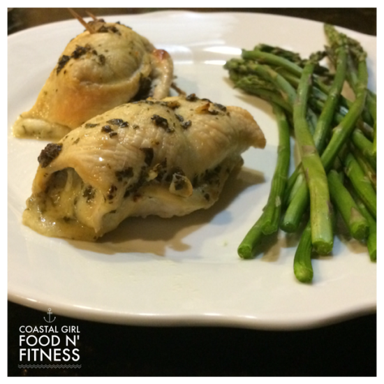 Pesto Mozzarella Chicken Rolls: Easy main dish that is healthy and good enough for company