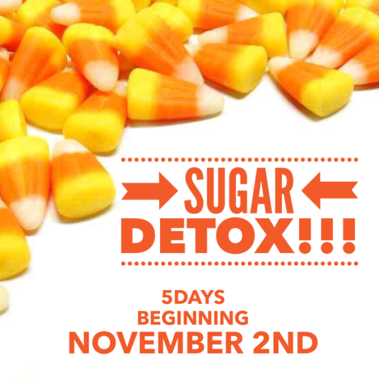 A 5-Day Sugar Detox Monday-Friday and get you back on track FAST