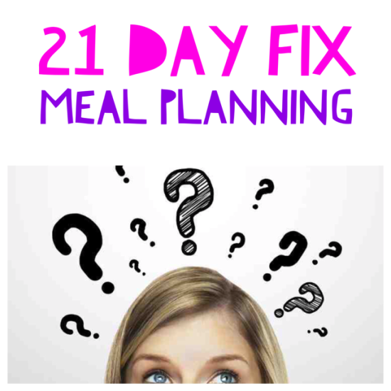 21 Day Fix Meal Planning: Where Do I Begin? For success, meal planning is required, there is no way around it. However meal planning can be overwhelming at first but it doesn't have to be. Breaking it down into smaller steps is helpful. This is how we put together our weekly plan.