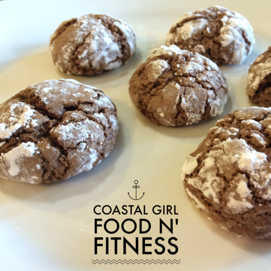 Cleaned-Up Cookies: Chocolate Crinkles: A family favorite! Chocolate cookies covered in organic powdered sugar. Gluten free.
