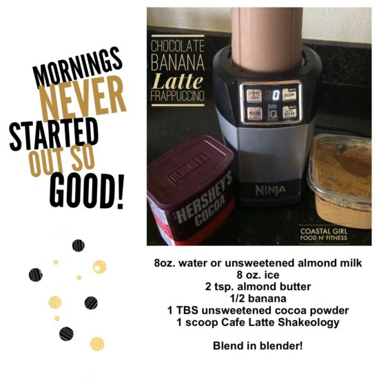 This unusual combination comes together to create a delicious and healthy morning frappuccino!