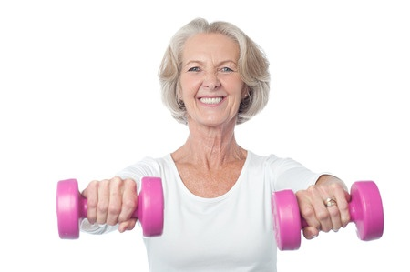 The best part about doing push ups and lifting weights is what you don't see! You don't see your bones getting stronger and your body building a barricade against osteoporosis!