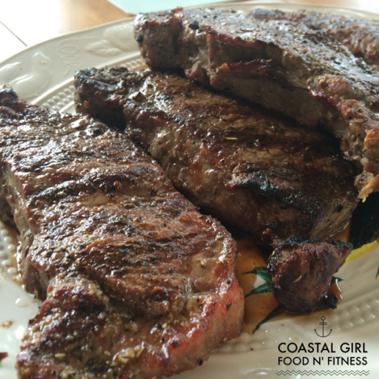 Grilled Steak Perfection! Grilled steak with herb seasoning. Healthy and clean!