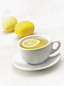 Start your day with hot lemon water