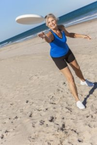 Frisbee, volleyball and other games are fun ways to get that workout in while at the beach.
