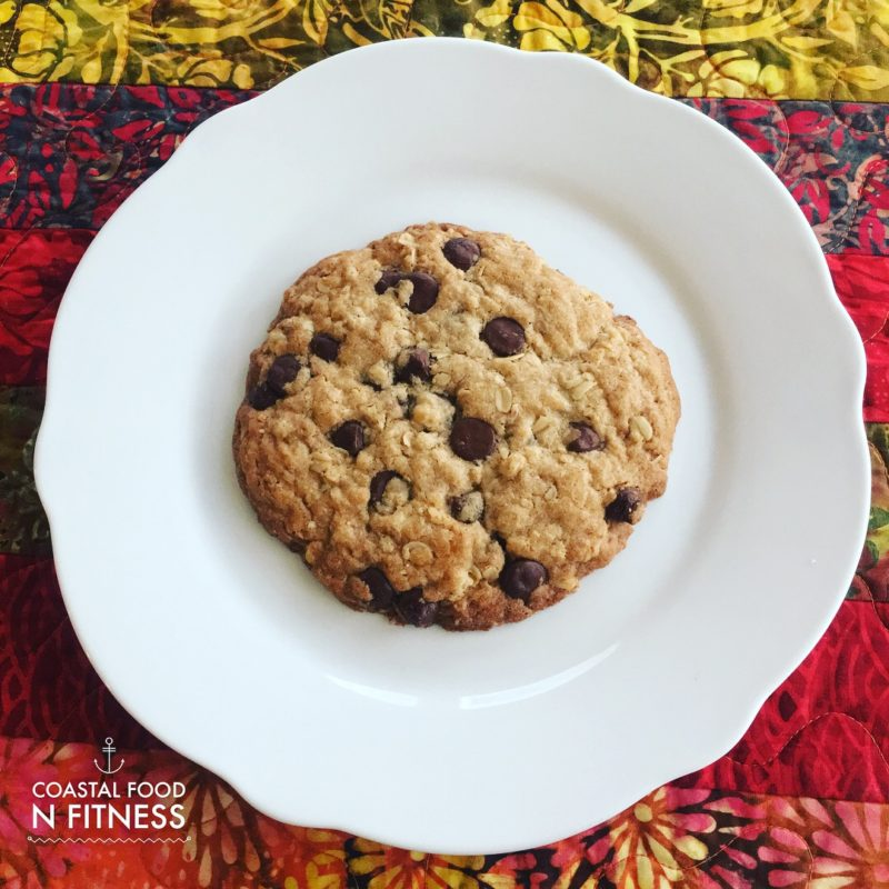 Chocolate Chip Oatmeal Cookie for 1! Gluten free!
