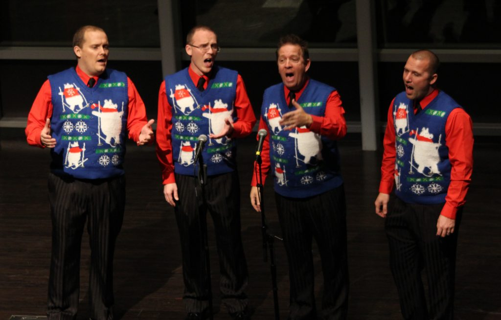 Switchback quartet performs in at the Harmony Hawks Christmas show in 2015.