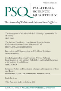 Political Science Quarterly cover