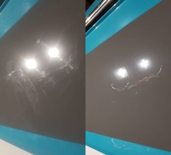 After polishing and prepping the surface, ceramic coating protection can offer a high level of gloss to the clear or gel coat