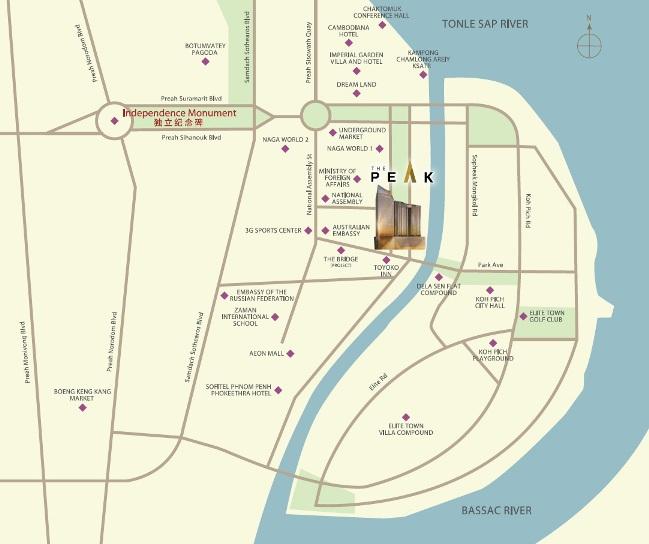 The Peak Cambodia Location