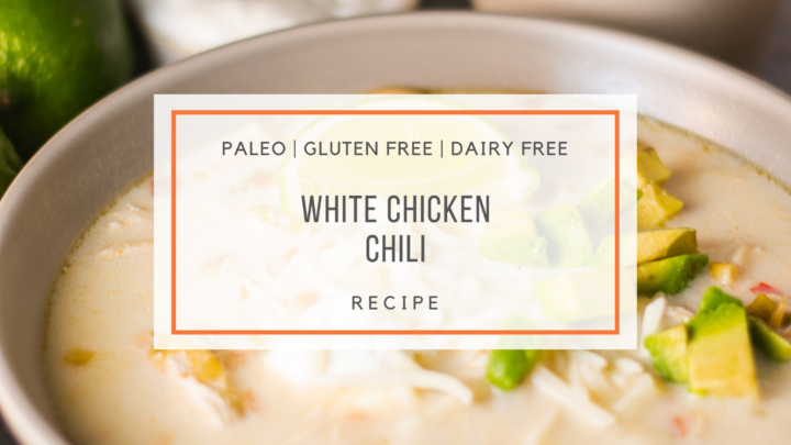 white chicken chili - snackin' free