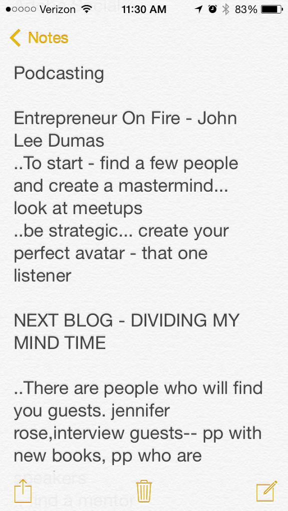 Dividing My Mind Time