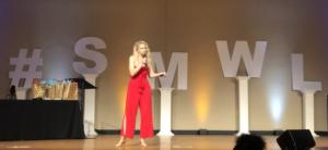 Jennifer Watson on stage at SMWL21