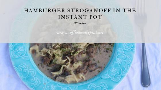 Hamburger Stroganoff in the Instant Pot