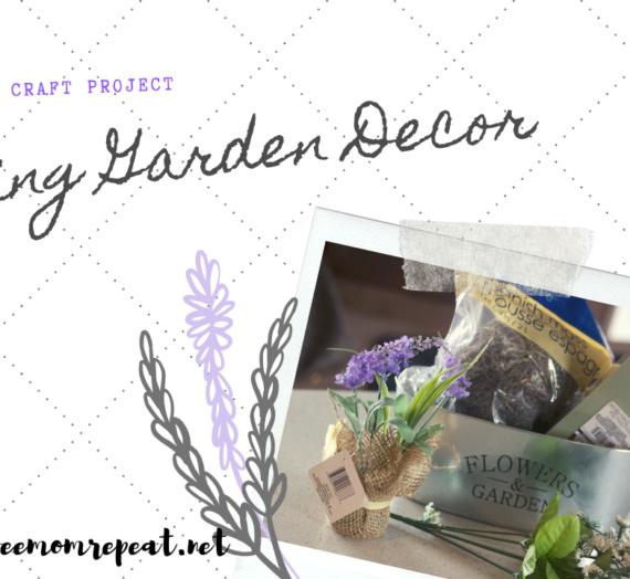 Dollar Tree Craft: Spring Garden Decoration. Only $5 to Make!