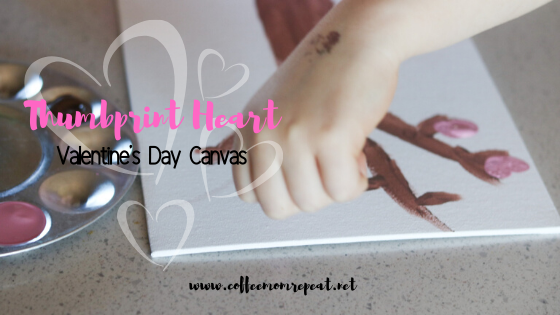 Thumbprint Heart Valentine's Canvas — Makes a Great Gift!