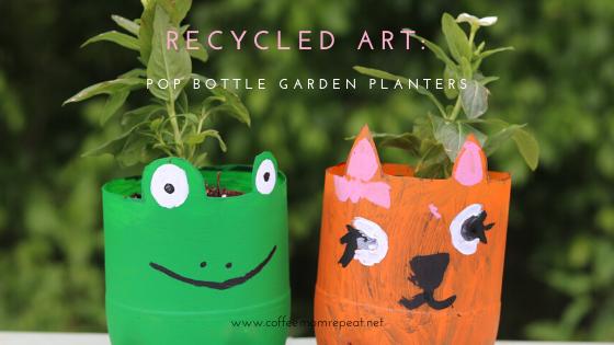 Recycled Art: Pop Bottle Animal Garden Planters