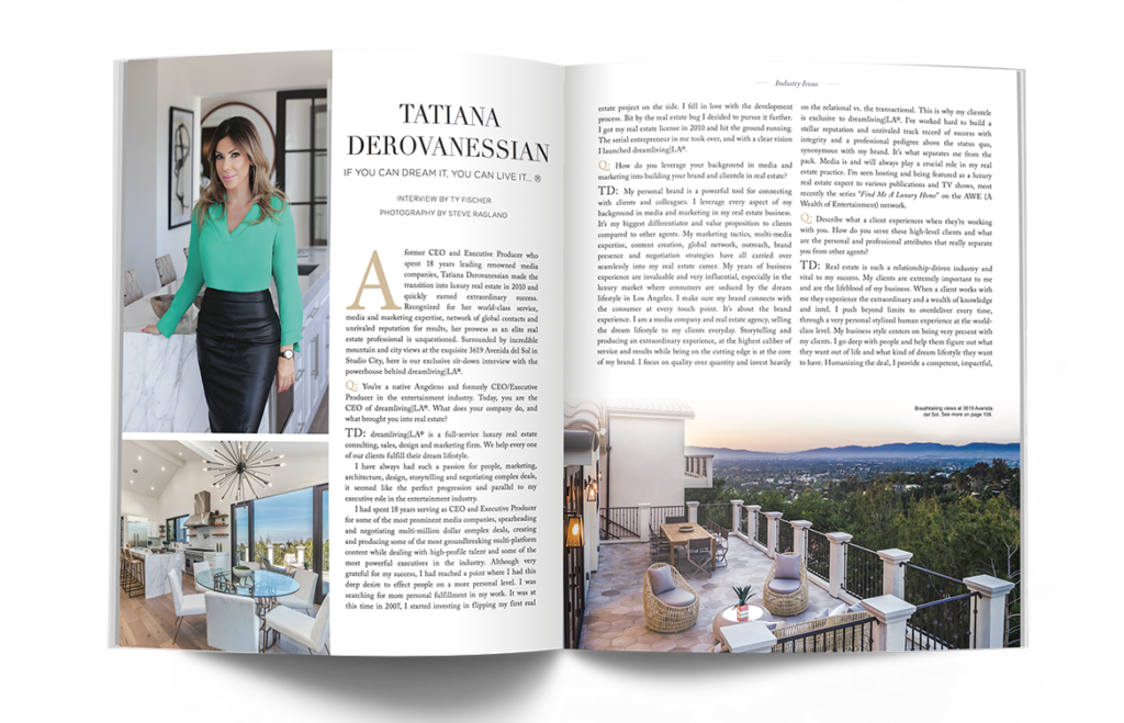 Print advertising for luxury real estate agents