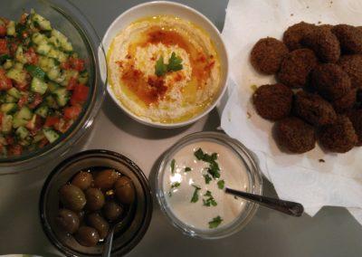 Falafel spread