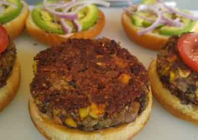 Black Bean and quinoa burger