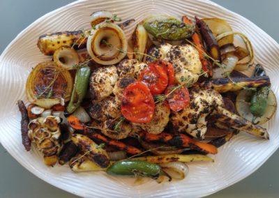 Charred veggie platter