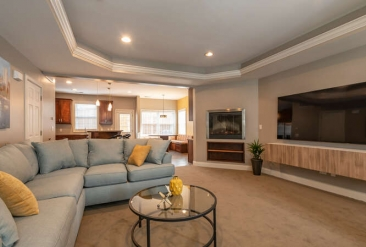 The Hamptons Townhomes Penthouse Living Room