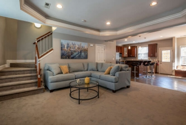 The Hamptons Townhomes Penthouse Living Room2