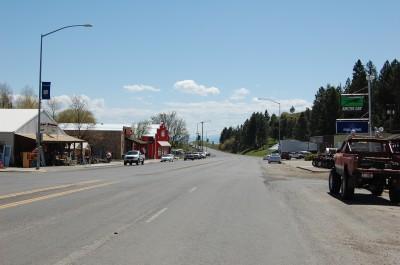 Main Street in Cottonwood Idaho