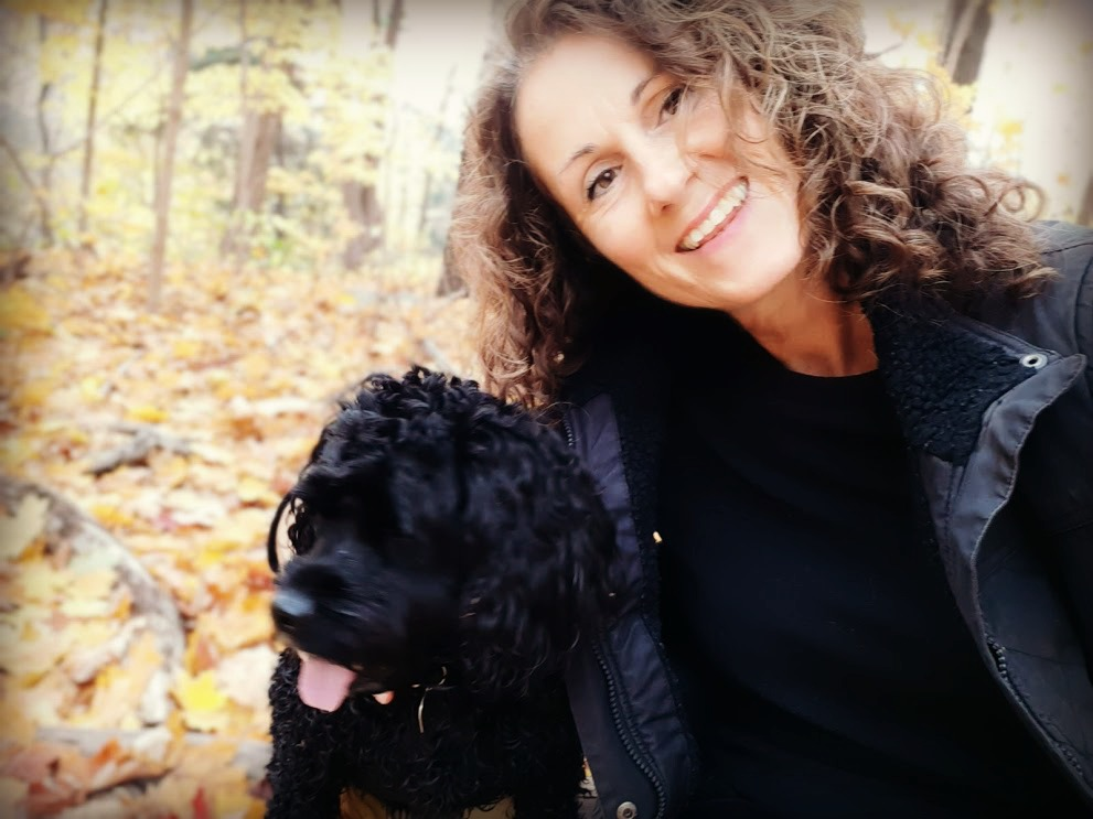 Kim with her dog Poppet