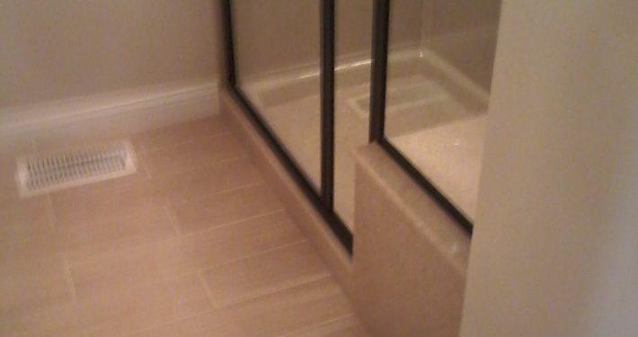 Bretz Bathroom Remodel Wood Style Tile Flooring