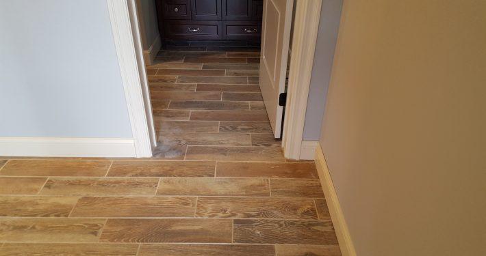 Ament wood look tile flooring