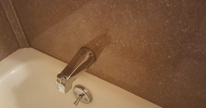 Brown Basement Tub Faucet