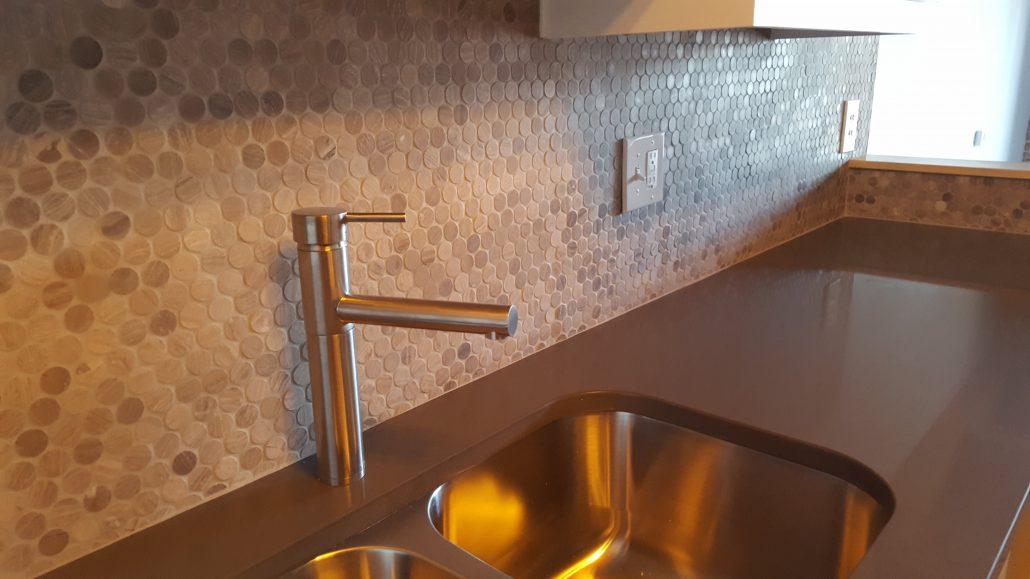 Francis Loft Remodel backsplash sink