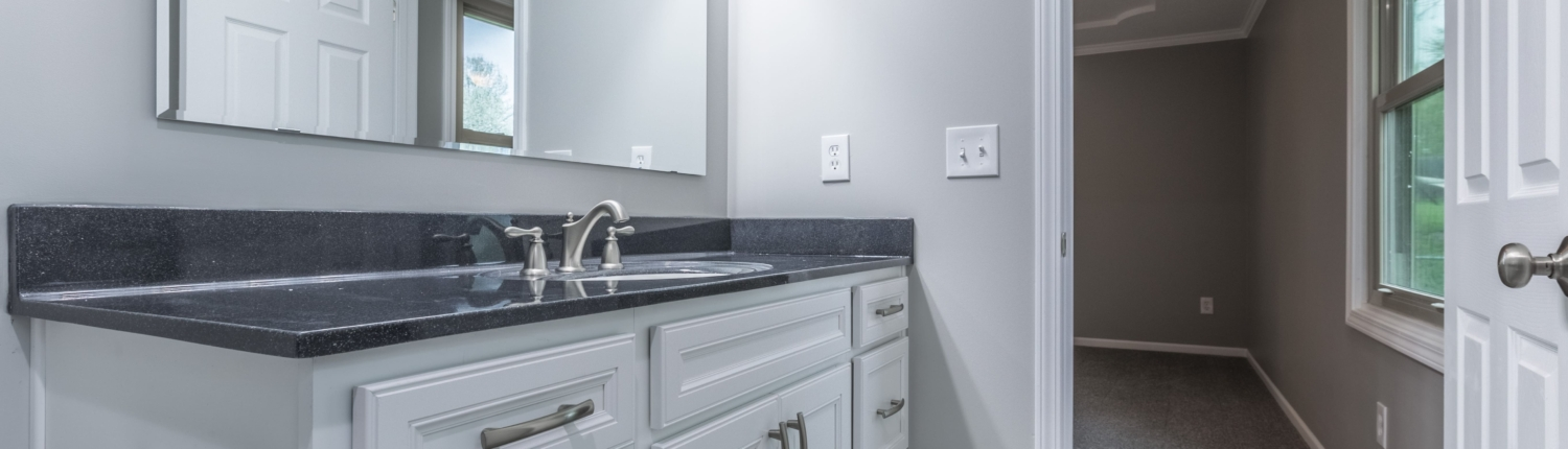 New Aker master bath with onyx countertop