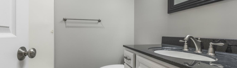 Aker bathroom remodel with onyx