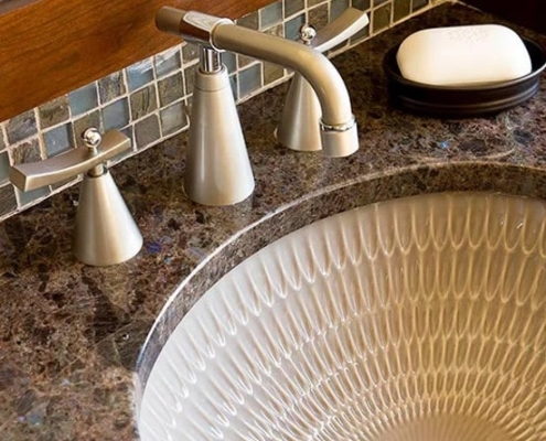 creative bowl on bathroom sink