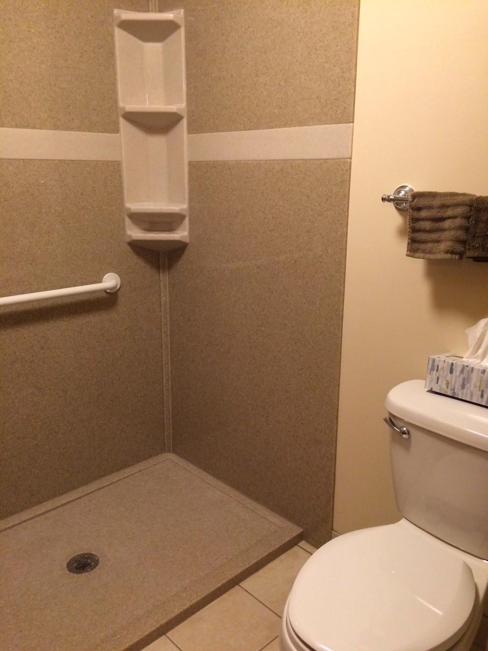 bath remodel without door shuemaker