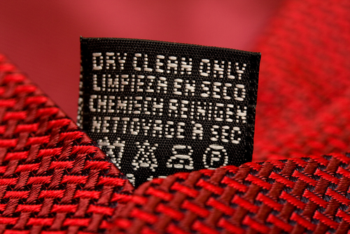 Dry Clean Only Care Label