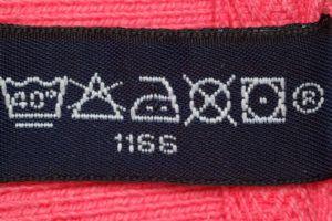 Clothes care label symbols